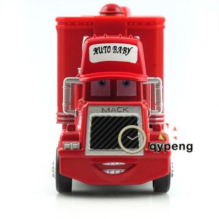 Disney Pixar Cars Movie Lightning McQueen Mack Mack Truck Trailer Toy