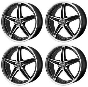 Motegi Racing MR107 MR10788045342 Rims Set of 4 18x8 42mm Offset 5x4 25 G Black