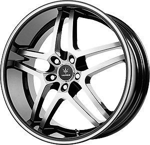 20 inch Staggered Verde Inertia Black Wheels Rims 5x4 5 5x114 3 32