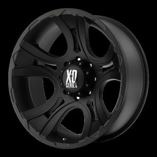 20 inch Black Wheels Rims KMC XD 801 Ford F250 350 Superduty 8 Lug Trucks 8x170