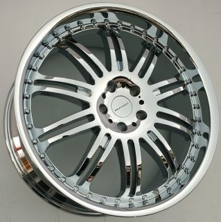 KMC Dime 22 x 9 5 Chrome Rims Wheels Range Rover Sport 06 Up 5H 38