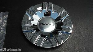 KMC Chrome Wheel Center Cap 387L191 New with Screws KMC Surge KM665 665