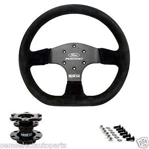 New 2005 2014 Ford Racing Mustang Sparco Steering Wheel w Installation Kit