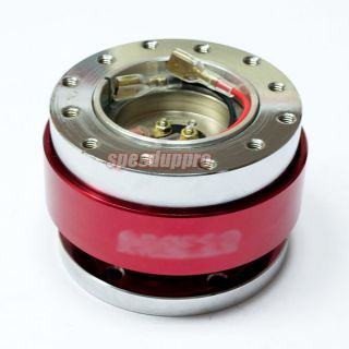6 Bolt Steering Wheel Quick Release Hub Kit Red for Momo Nardi NRG Sparco OMP