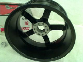 "Motegi Racing MR116 Matte Black Finish Wheel with Red Accents 18x8"" 5x4 5"""