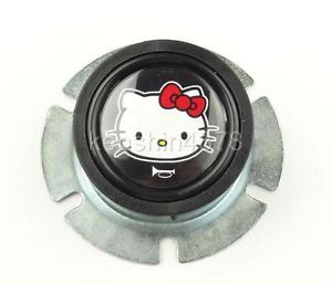 Black Hello Kitty Horn Button Momo Sparco Grant Quanties Steering Wheel Toyota