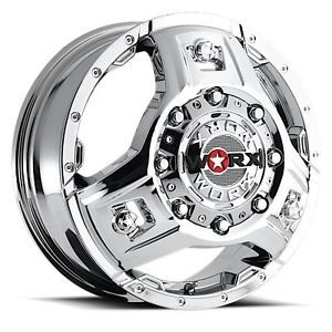 16 inch Worx Triad Dually Chrome Wheels Rim 8x165 1 8x6 5 F350 RAM 3500