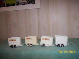 Tonka 1970's 4 Horse Trailers Parts Restore Pressed Steel Toys