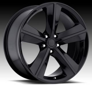 "20"" inch Dodge Challenger Stock Replica Black Wheels Rims"