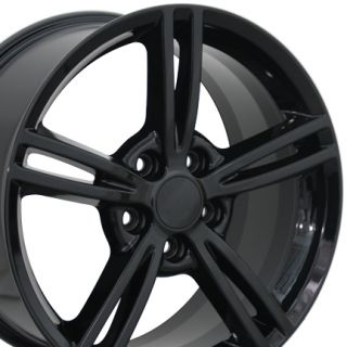 "18"" Black Fits Camaro Wheels 18x8 5 Set of 4 Rims Fits Chevrolet"