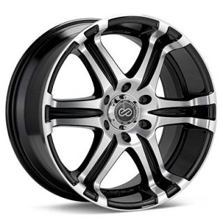 "20"" Enkei Black Machined ETS Truck Wheel Rim 20 x 9 5 35mm 6x139 7"