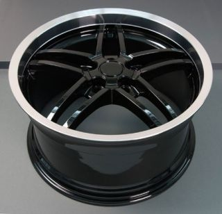"One Wheel 18"" Black Corvette Z06 Style Deep Dish Rims Fits"