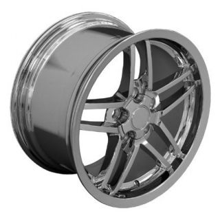 "18"" Chrome Rims Fit Camaro Corvette C6 Z06 Deep Dish Wheels"