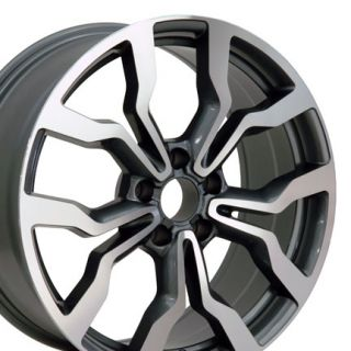 "20"" Machined Gunmetal R8 Style Replica Wheel Rim Fits Audi"