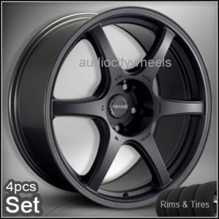 "17""Wheels Tires Tenzo DC6 Rims Lexus Scion Audi"