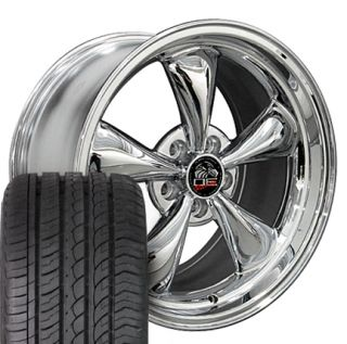 "18"" Chrome Bullitt Bullet Wheels Set of 4 Rims ZR Tires Fit Mustang® GT"