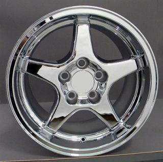 "17"" Chrome ZR1 Style Wheel 17 x 11 Rim Fits Corvette"