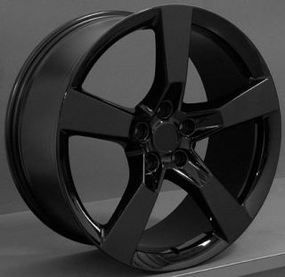 "20"" Machined Black Camaro SS Wheels Set of 4 Rims Fits Chevrolet"