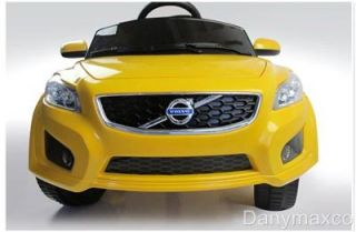 Volvo C30 Baby Kids Ride on Power Wheels Battery Toy Car Yellow