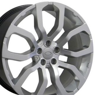 "22"" Wheels Hyper Silver 4 Rims 4 Tires Fit Land Range Rover LR3 LR4 HSE Sport"
