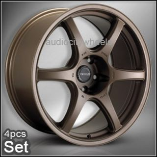"18""Tenzo DC6 Bronze Wheels Rims Lexus Audi Scion EVO"