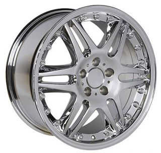 18x9 5 Chrome Monoblock Wheel Rim Fits Mercedes C E s Class SLK CLK 38mm