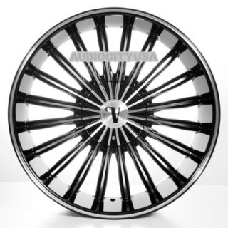 "22"" VC11 BM Wheels and Tires Rims for Chevy Tahoe Escalade Yukon RAM Ford"