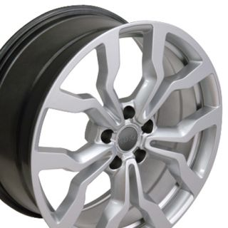 "18"" Hyper Silver R8 Style Wheels Set of 4 Rims Fit Audi A4 A6 A8 Allroad"