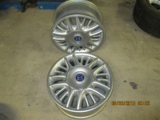 "Bentley ""Azure"" 93 99 O E M Set of 2 17x7 Aluminum Wheels w Center Caps"