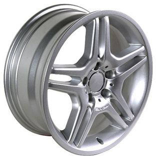 "18"" 8 9 Silver AMG Wheels Set of 4 Rims Fit Mercedes C E s Class SLK CLK ET35"