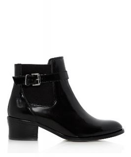 Limited Black Patent Leather Chelsea Boots