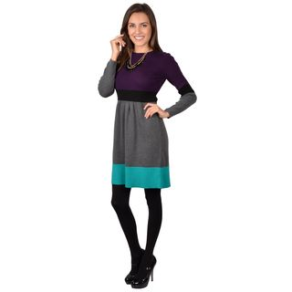 Jessica Howard Women's Long Sleeve Colorblocked Sweater Dress Jessica Howard Casual Dresses