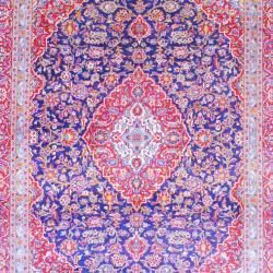 Persian Hand knotted Kashan Navy/ Red Wool Rug (9'7 x 12'8) 7x9   10x14 Rugs