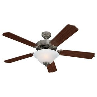 Sea Gull Lighting Quality Max Plus 52 inch Brushed Nickel Ceiling Fan with Bowl Light Sea Gull Lighting Ceiling Fans
