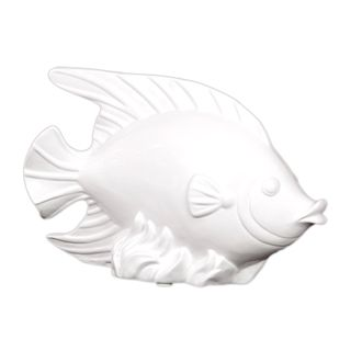 Urban Trends Collection White Ceramic Fish Urban Trends Collection Accent Pieces