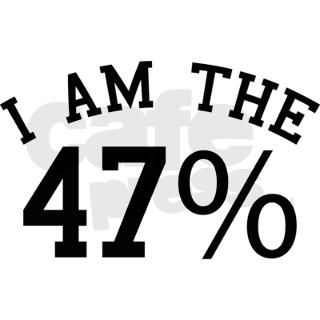 I Am The 47 Percent Oval Car Magnet by BrightDesign