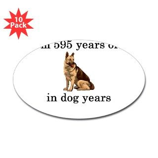 85 dog years german shepherd Decal by PARTYHUT