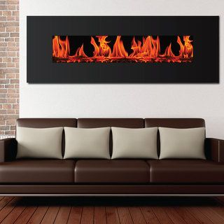 Frigidaire Valencia Extra Wide Wall Mount Electric Fireplace Frigidaire Indoor Fireplaces