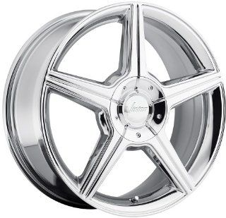 Vision Autobahn 17 Chrome Wheel / Rim 5x4.25 & 5x115 with a 40mm Offset and a 74.1 Hub Bore. Partnumber 168 7715C40 Automotive