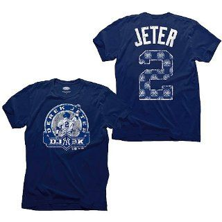 "Derek Jeter 3000 Hits ""DJ 3K"" Official Issue Name and Number T Shirt Sports & Outdoors"