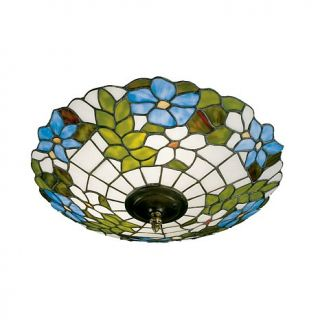 Dale Tiffany Pansy Semi Flush Mount Light Fixture