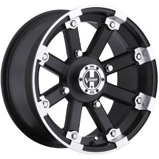 Vision Lock Out 12 Machined Black Wheel / Rim 5x4.5 with a 2.5mm Offset and a 79.4 Hub Bore. Partnumber 393 127545GBML4 Automotive