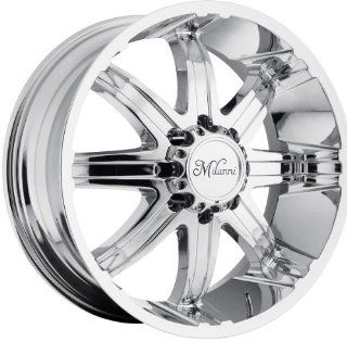 Milanni Kool Whip 8 22 Chrome Wheel / Rim 8x170 with a 18mm Offset and a 130.8 Hub Bore. Partnumber 446 22970C18 Automotive
