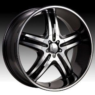 Cruiser Alloy Impulse 17x7.5 Machined Black Wheel / Rim 5x4.5 & 5x120 with a 42mm Offset and a 74.10 Hub Bore. Partnumber 908MB 7755742 Automotive