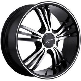 Platinum Wolverine 17 Black Wheel / Rim 5x110 & 5x115 with a 42mm Offset and a 73 Hub Bore. Partnumber 122 7710B+42 Automotive