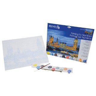 Reeves 12 Inch by 16 Inch Large Paint by Number Kit, Houses of Parliament Arts, Crafts & Sewing