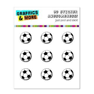 Graphics and More Soccer Ball   Sports Home Button Stickers Fits Apple iPhone 4/4S/5/5C/5S, iPad, iPod Touch   Non Retail Packaging   Clear Cell Phones & Accessories