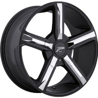 Platinum Dynasty 18 Black Wheel / Rim 5x115 & 5x120 with a 15mm Offset and a 74 Hub Bore. Partnumber 499 8820B+15 Automotive