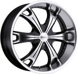 Milanni Stellar 17 Machined Black Wheel / Rim 6x5.5 with a 18mm Offset and a 110 Hub Bore. Partnumber 452 7883MF18 Automotive