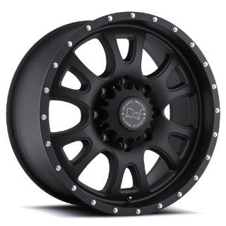 Black Rhino Lucerne 18 Black Wheel / Rim 8x6.5 with a 12mm Offset and a 122 Hub Bore. Partnumber 1890LUC128165M22 Automotive